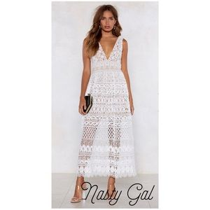 NWT Nasty Gal In Lace Of Emergency Dress